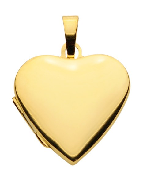 Gold Medaillon Herzform